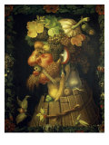Autumn, from a Series of the Four Seasons, Commissioned by Emperor Maximilian II (1527-76) 1573, Giclee Print