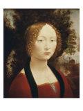 Masterworks of Art - Ginevra De' Benci, Leonardo da Vinci, Poster