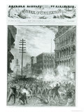 "The Great Strike: the Sixth Maryland Regiment Fighting Its Way Through Baltimore, from ""Harper"", Giclee Print"