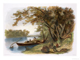 Encampment of the Travellers on the Missouri, Giclee Print, Karl Bodner