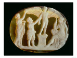 Cameo of Icarus and Daedalus with Persephone and Artemis, 1st Century, Giclee Print