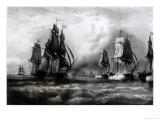 John Paul Jones's 'Ranger' Ship, 1793, Giclee Print