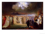 Frederic Chopin in Concert at the Hotel Lambert, Paris, 1840, Giclee Print