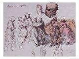 "Study for ""Les Polonaises de Chopin,"" 1850, Giclee Print"