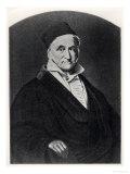 """Portrait of Carl Friedrich Gauss from """"Handbuch Der Vermessungskunde"""", Giclee Print"""