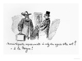 Caricature About Impressionist Painting, 'Mr Impressionist Painter, Where Have You Learned Your Art?, Giclee Print