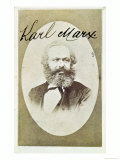 Photographic Visiting Card of Karl Marx with His Signature Giclee Print