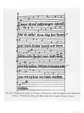 Fragment of a Poem by Wolfram of Eschenbach, Published by Fetis, Giclee Print