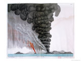 "The Eruption of the Santorini Volcano, Illustration from ""Etudes Sur Les Volcans"", Giclee Print"