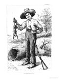 Frontispiece to 'The Adventures of Huckleberry Finn', by Mark Twain 1884, Giclee Print