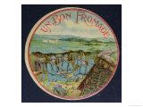 """Label for """"Un Bon Fromage"""" Camembert Cheese Depicting Soldiers in the Trenches, 1914-18, Giclee Print"""