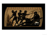 Ulysses and His Companions Gouging Out the Eye of the Cyclops Polyphemus, Giclee Print