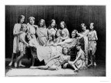 Isadora Duncan and Her Pupils from The Grunewald School, 1908, Giclee Print