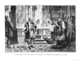 Galileo Retracts His Theory of the Movement of the Earth Before the Judges of the Holy Office, Giclee Print