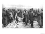 The Christmas Day Truce of 1914, Published 1915, Giclee Print