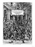 The Anatomy Lesson of Andreas Vesalius at the School of Medicine in Brussels, Giclee Print