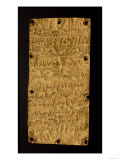 Gold Plate with Phoenician Inscription, from Santa Severa, Pyrgi, 5th Century BC, Giclee Print