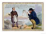 John Bull and the Architect Wot Builds the Arches, Cartoon Published 1829, Giclee Print