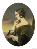 Portrait of the Countess Marie D'Agoult, 1843, Giclee Print