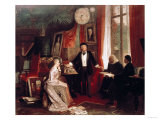 Richard Wagner with Franz Liszt and Liszt's Daughter Cosima, Giclee Print