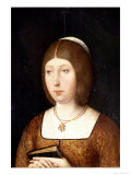 """Portrait of Isabella I """"The Catholic,"""" Queen of Castile, circa 1490-92, Giclee Print"""