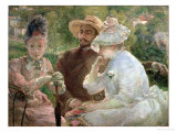 On the Terrace at Sevres, 1880, Giclee Print, Marie Bracquemond