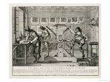 French Printing Press, 1642, Giclee Print