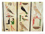 The Sarcophagus of Psamtik I Detail of Hieroglyphics, Late Period Giclee Print