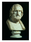 Portrait Bust of Euripides, copy of Greek Late 4th Century BC Original, Giclee Print