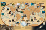 World of National Geographic Map Art Print
