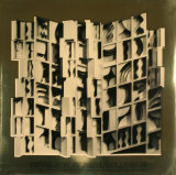 At Pace Columbus, Gold, Art Print, Louise Nevelson