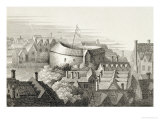 The Globe Theatre, circa 1647, Published by Robert Wilkinson, London, 1810, Giclee Print