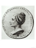 Medal Depicting Sophie Germain, Giclee Print