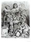 Grandmother Telling a Story to Her Grandchildren, Giclee Print, Gustave Dore