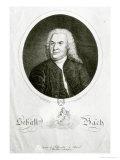 Portrait of Johann Sebastian Bach, Elias Gottleib Haussmann, Giclee Print