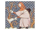 March: Pruning Trees, Master Ermengaut, Giclee Print