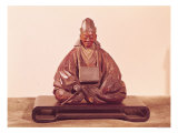 Seated Statue of Basho, Edo Period, Giclee Print