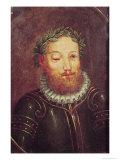Portrait of Luis Vaz de Camoes 16th-17th Century, Giclee Print
