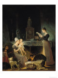 Marguerite Gerard - Reading the Letter, Giclee Print