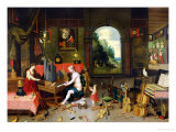 An Allegory of Hearing, Giclee Print, Jan the Elder Brueghel