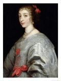 Henrietta-Maria of France, Queen Mary of England, Giclee Print, Anthony van Dyck