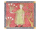 April, Picking Flowers, Master Ermengaut, Giclee Print