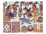 Montezuma II (Aztec) Receiving Tributes Book IX, Giclee Print