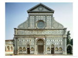 Facade of Santa Maria Novella, circa 1458-70, Giclee Print