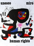 UNESCO, Human Rights, 1974, Joan Miro, Lithograph