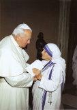 Papst Paul II und Mutter Theresa, Art Print