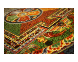 Sand Buddhist mandala close up, Photographic Print