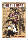 On The Road by Jack Kerouac, Poster, illustration by Len Deighton