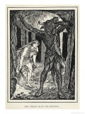 The Minotaur the Monster Kept by King Minos in His Labyrinth, Giclee Print