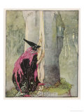 The Witch Spies on Rapunzel, Anne Anderson, Giclee Print